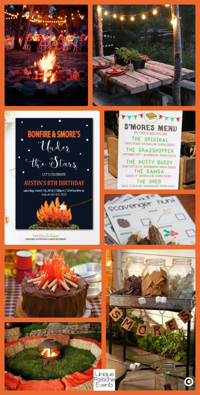 Backyard S'more's Party Ideas by Unique Pastiche Events - See all the event ideas here: https://uniquepasticheevents.com/2016/08/10/backyard-smores-party-ideas/