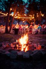 Bonfire in Forest Near Party – shared by Capital Romance