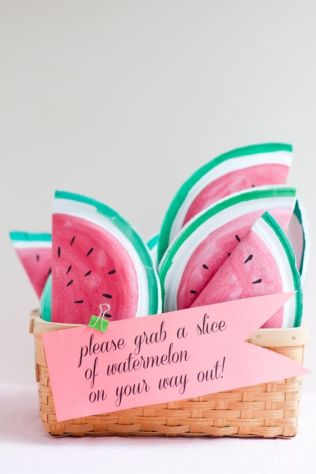 DIY Watermelon Party Favors – tutorial shared by Oh Happy Day