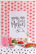 """You're One In A Melon"" Printable for Watermelon Food Station - shared by Tell Love and Party"
