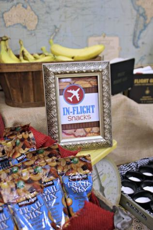 In Flight Snacks Sign – shared by Mimi's Dollhouse