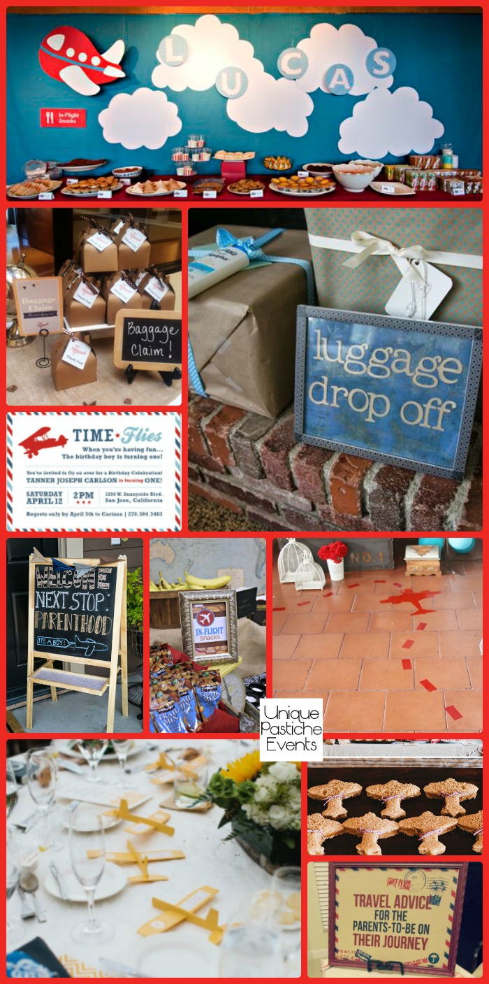Precious Cargo - Vintage Airplane Baby Shower Party See all the party ideas here: https://uniquepasticheevents.com/2016/08/17/precious-cargo-vintage-airplane-baby-shower-party/