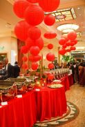 Red Paper Lantern Food Buffet and Display