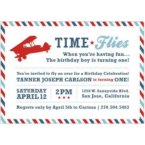 Time Flies When Youre Having Fun Vintage Airplane Invitation Available On I Heart To Party