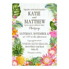 Tropical Beach Invitation – sold by Nou Designs on Zazzle