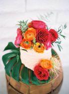 Tropical Cake Display – shared on 100 Layer Cake