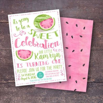 Watermelon Summer Party Invitation – created and sold by BloomberryDesigns on Etsy