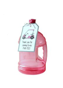 """""""Thank you for coming to my par-tee"""" Golf Party Favor Hang Tags – created and sold by Formytwogirls on Etsy"""