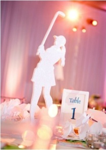 Girls Golf Silhouette Centerpiece – shared by Mazel Moments