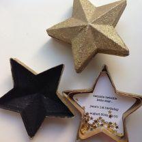 Gold Glitter Star Invitation Box – spotted on Pinterest