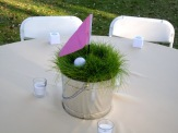 Golf Flag and Grass Party Centerpiece – shared by Perfectly Unplanned