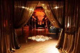 Grand Draped Entrance – featured on Ashley's Bride Guide