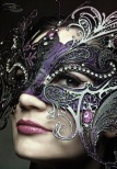 Purple, Silver, and Black Masquerade Mask – shared by Damn Right, Masquerade on Tumblr