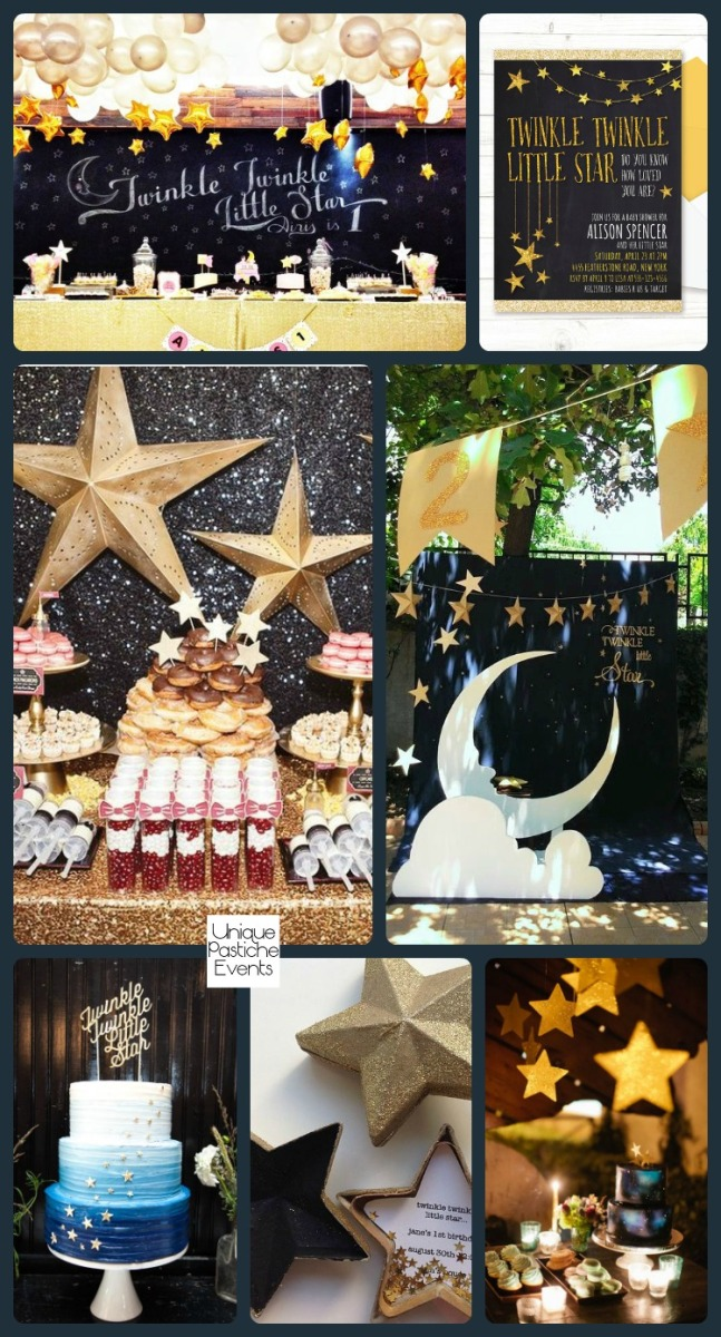 Twinkle Twinkle Little Star Baby Shower Read all about this idea board: https://uniquepasticheevents.com/2016/09/28/twinkle-twinkle-little-star-baby-shower/