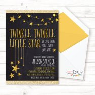 Twinkle Twinkle Little Star Shower Invitation – created and sold by PaperFoxStudios on Etsy