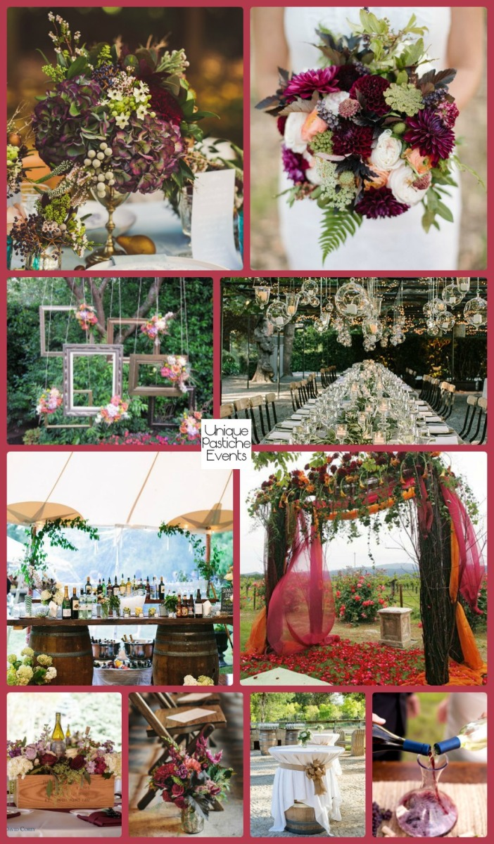 Vineyard Wedding in Shades of Plum