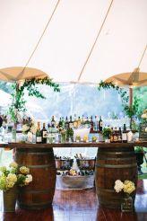 Wine Barrel Bar – shared by Elegant Wedding Invites