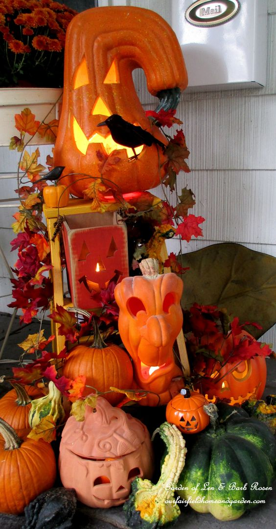 Jack-o-lantern Outdoor Display – shared by Our Fairfield Home & Garden
