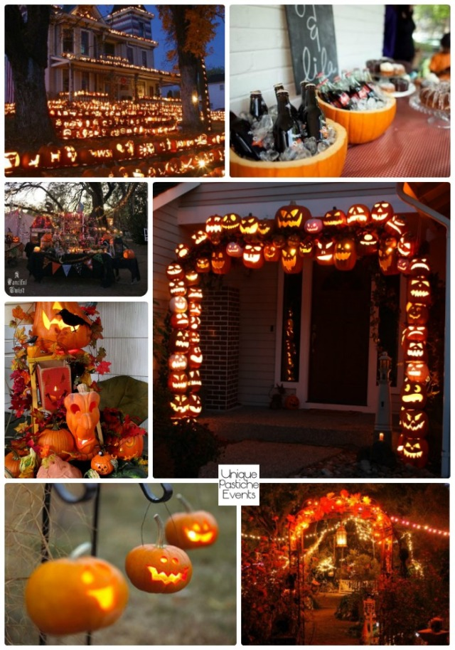 Outdoor Jack-o-lantern Halloween Party Ideas