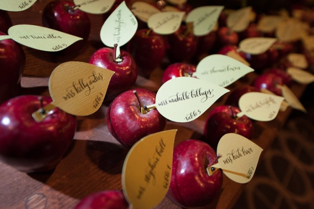 Poison Apple Escort Cards – featured in a roundup post by BizBash