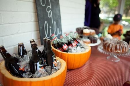 Pumpkin Beverage Coolers – shared by Lindsy Steinberg Events