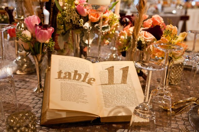 Storybook Table Number – featured on BizBash