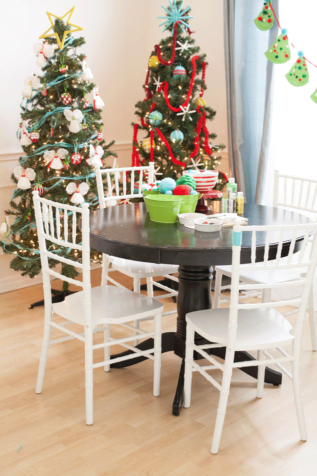 Children's Ornament Making Station – as shared by Frog Prince Paperie