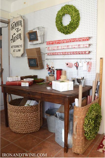 Christmas Gift Wrap Station – as shown on The Handmade Home