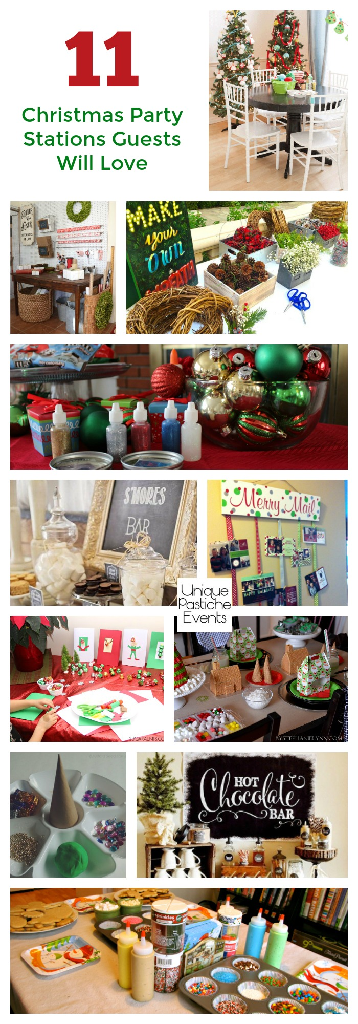 11 Christmas Party Stations Guests Will Love Get all the ideas to save for next year here: https://uniquepasticheevents.com/2016/11/23/11-christmas-party-stations-guests-will-love/