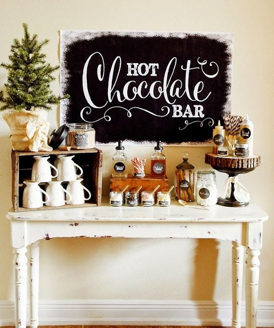 Hot Chocolate Bar Station – as shared on Liz Marie Blog