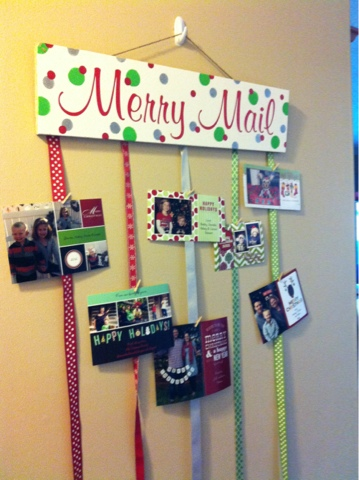 Merry Mail Table Station – as shared by Craft Fabulous