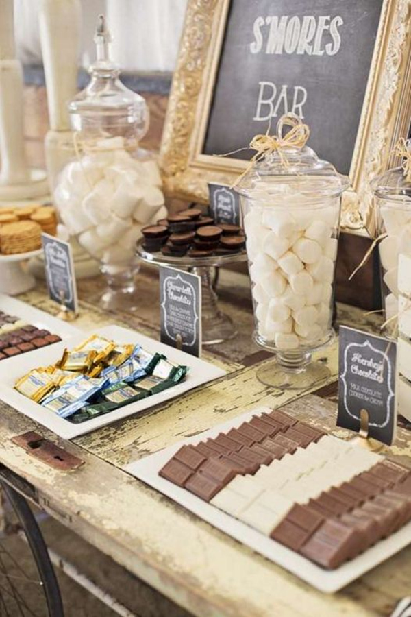 S'mores Bar Food Station – as featured in a roundup post by Tulle and Chantilly