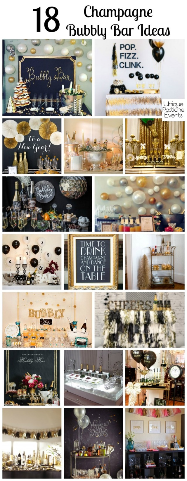 18 Champagne Bubbly Bar Ideas