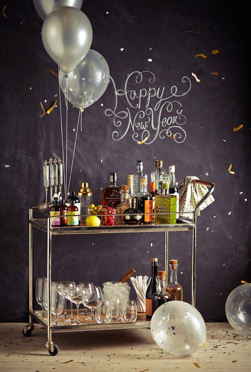 Bubbly Bar Cart for New Year's Eve – shared by Anthropologie