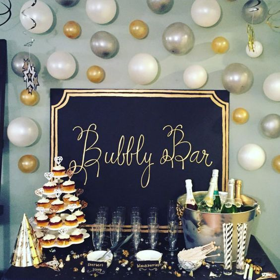 Bubbly Bar Sign and Display – as created and sold by WhitWeddingDecor on Etsy