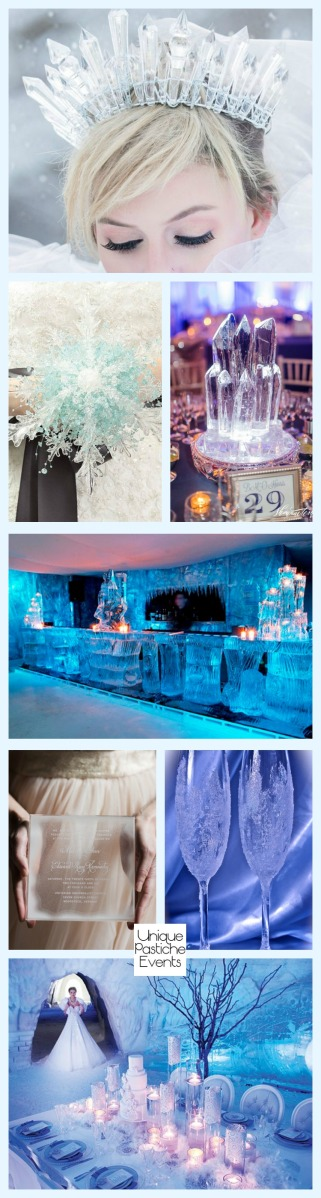 Ice Queen Inspired Winter Wedding Get all the details of this themed wedding here: https://uniquepasticheevents.com/2016/12/07/ice-queen-inspired-winter-wedding/