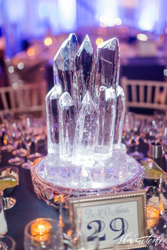 Icicle Ice Sculpture Centerpieces – captured and shared by Shaunae Teske Photography