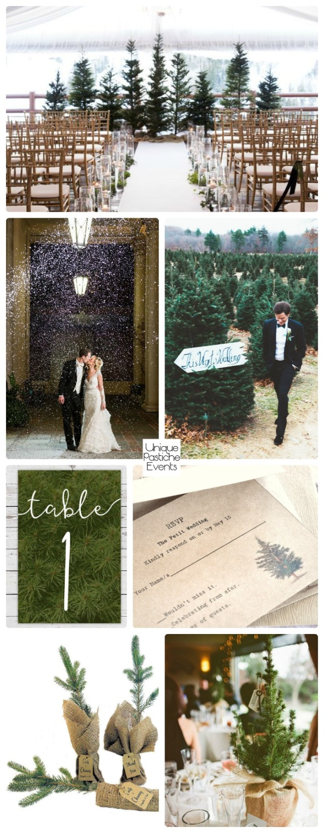 Rustic Fir Tree Farm Christmas Wedding