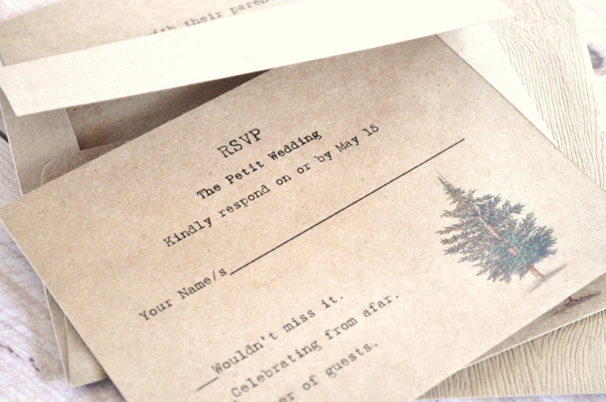 Rustic Tree Forest Wedding Invitations – created and sold by alittlemorerosie on Etsy