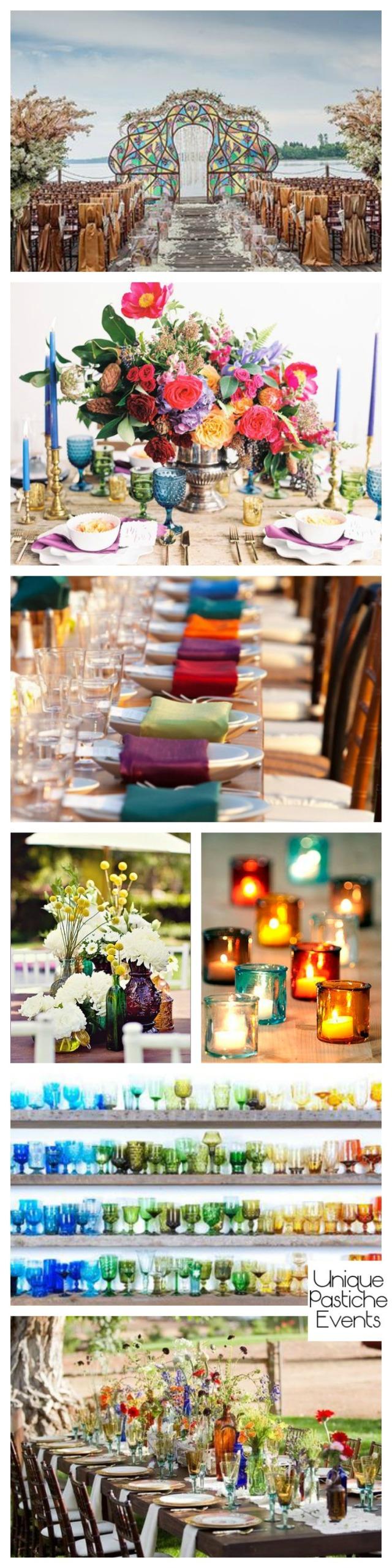 Bold Bohemian Wedding in Jewel Tones