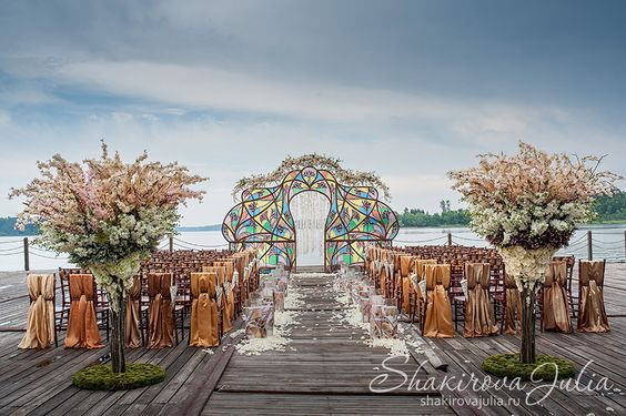 Colorful Stained Glass Wedding Altar – created and designed by Julia Shakirova