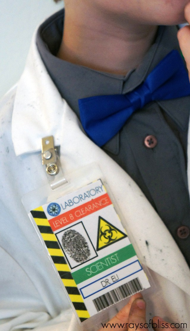 DIY Printable Mad Scientist Badge – created and shared by Rays of Bliss