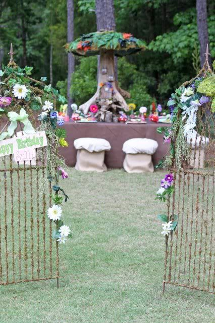 Enchanted Flowering Garden Gate Party Entrance