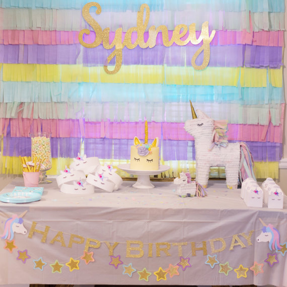Gold Glitter Name Sign Display – created and sold by HoorayPartyCo
