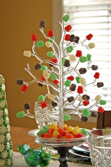 Gumdrop tree centerpiece shared by southern scraps