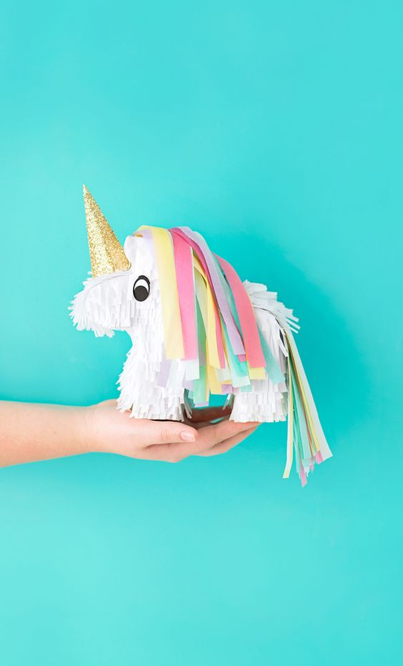 Miniature Unicorn Pinata Tutorial (for favors!) – tutorial shared on A Subtle Revelry