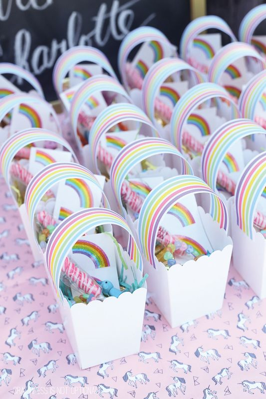 Rainbow Treat Boxes – shared by Craftiness Is Not Optional