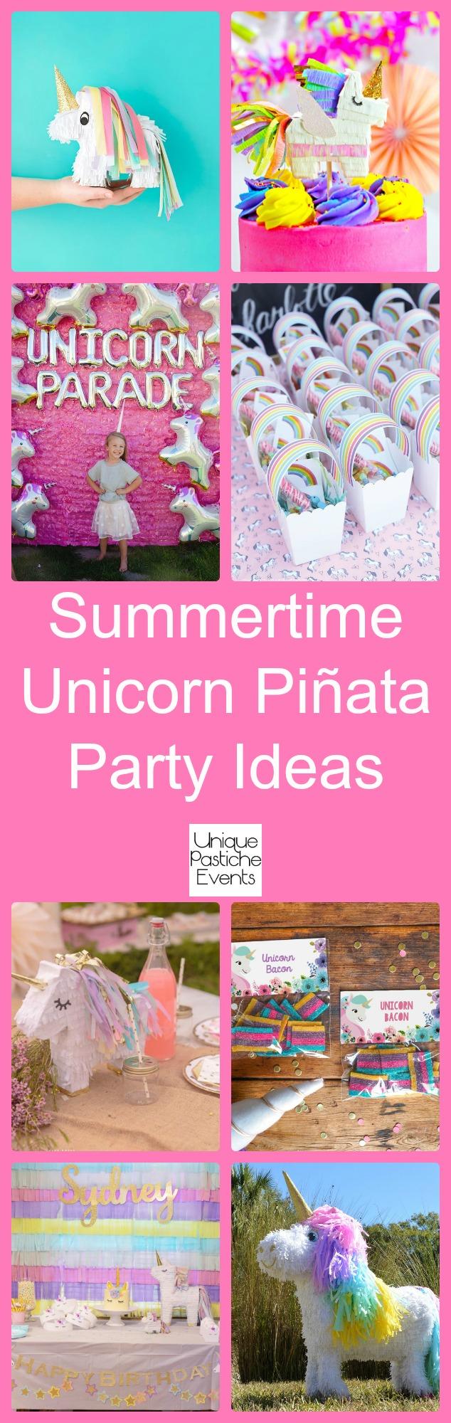 Summertime Unicorn Piñata Party