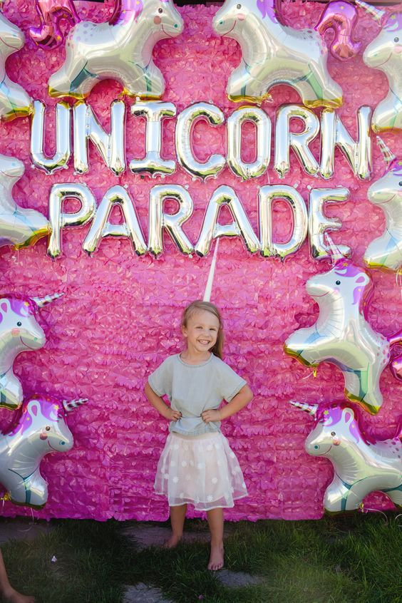Unicorn Parade Balloon Photo Backdrop in Pink – shared by The Alison Show