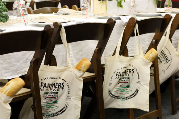 Farmers Market Gift Goodie Favor Tote - shared on Taste with the Eyes